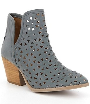 Coolway Athena Leather Cutout V-Throat Ankle Booties