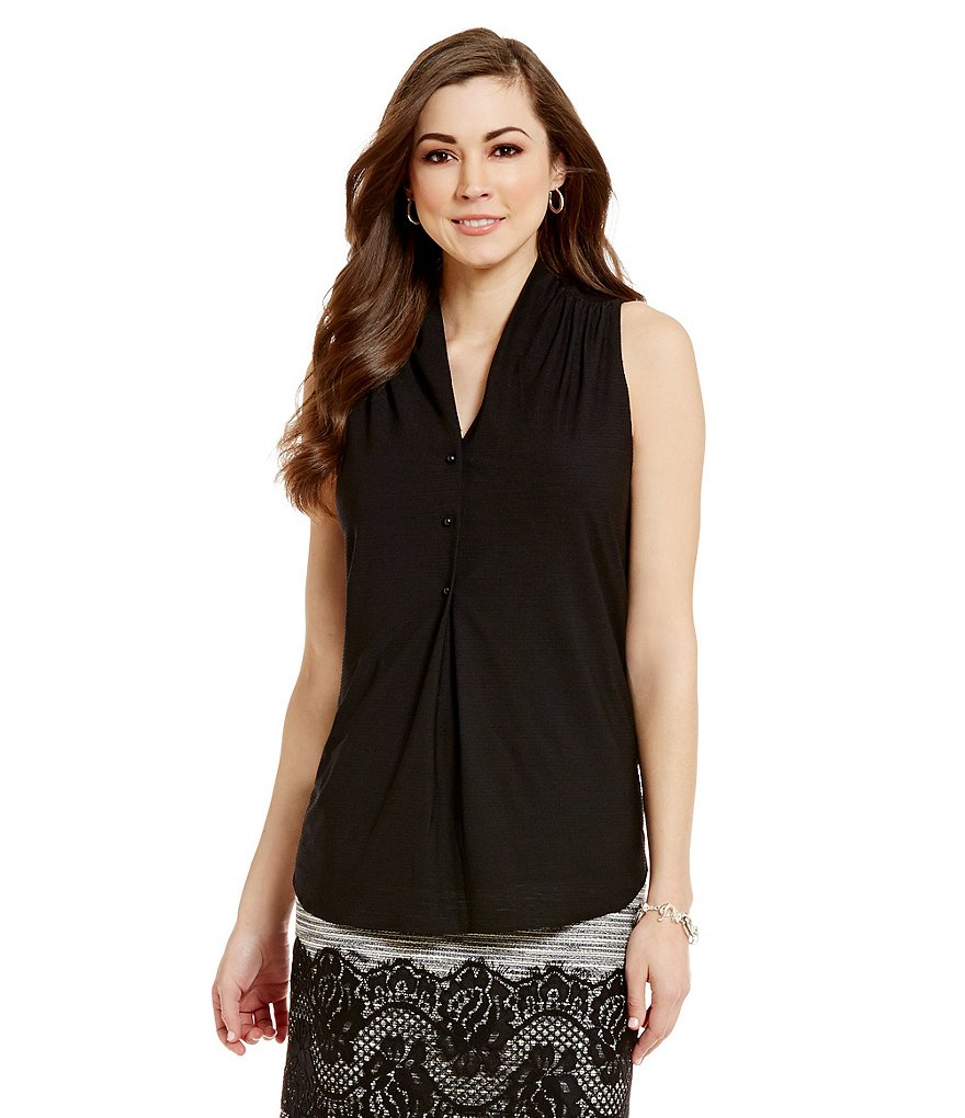 Antonio Melani Nancy V-Neck Sleeveless Knit Top
