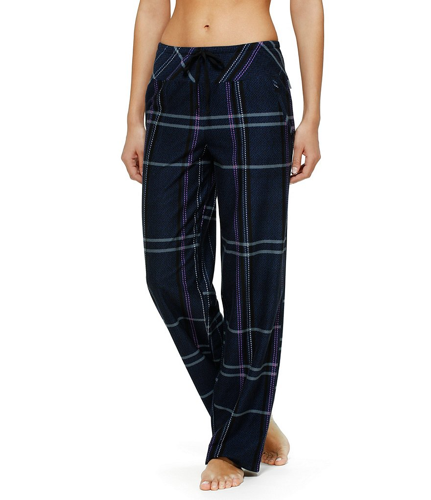 DKNY Plaid Fleece Sleep Pants
