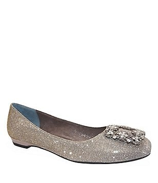 J. Renee Glitter Embellished Slip-On Dewport Flats