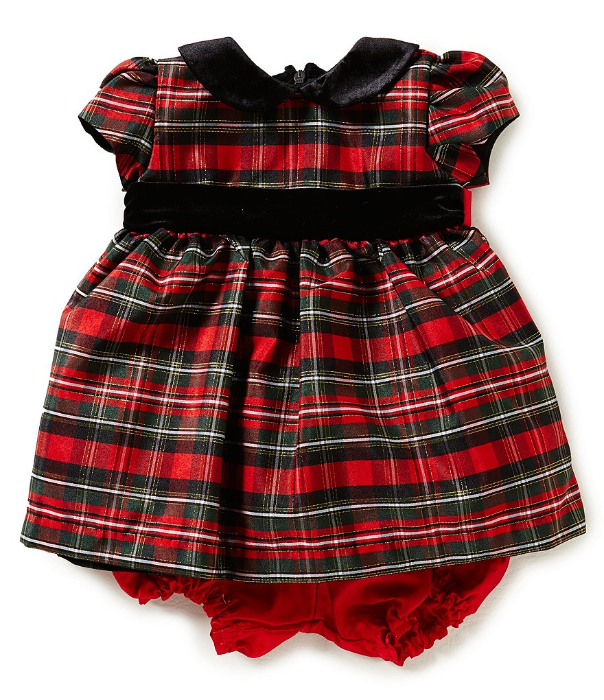 Jayne Copeland Baby Girls 3-24 Months Christmas Plaid Dress