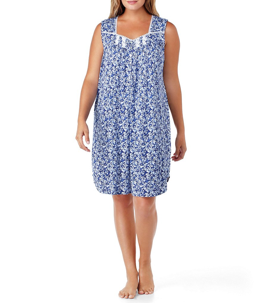 Eileen West Plus Floral Nightgown