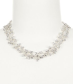 Cezanne Petite Flowers Rhinestone Statement Necklace