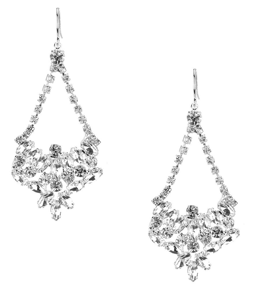 Cezanne Rhinestone Crystal Swing Chandelier Earrings