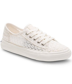 Keds Girl´s Double Up Textile Lace Up Flower Design Flat Sneakers