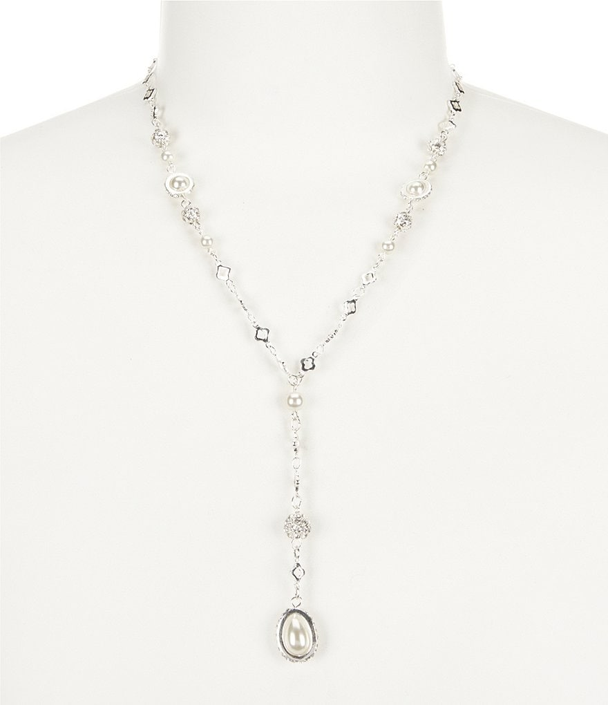 Cezanne Rosary Faux-Pearl Y-Necklace