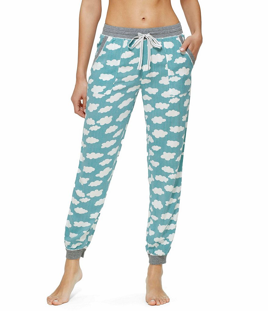 Kensie Cloud-Print Lounge Jogger Pants