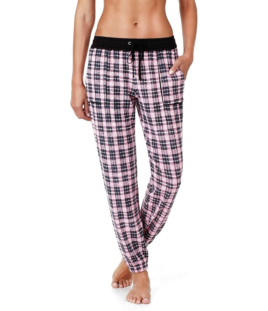 Kensie Plaid Jogger Pajama Pants