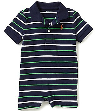Ralph Lauren Childrenswear Baby Boys 3-12 Months Striped Shortall