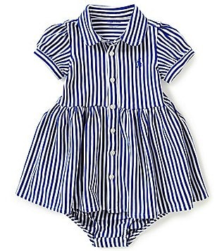 Ralph Lauren Childrenswear Baby Girls 3-24 Months Bengal-Striped Short-Sleeve Knit Shirt Dress