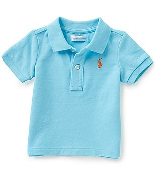 Ralph Lauren Childrenswear Baby Boys 3-24 Months Short-Sleeve Solid Mesh Polo Shirt