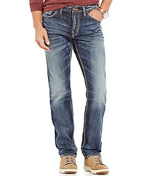 Silver Jeans Co. Konrad Distressed Stretch Slim-Fit Jeans