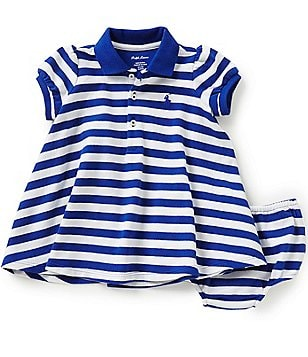 Ralph Lauren Childrenswear Baby Girls 3-24 Months Horizontal-Stripe Dress