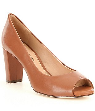 Antonio Melani Blayna Leather Peep Toe Pumps