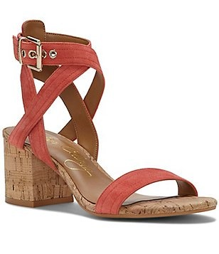 Arturo Chang Hammil Suede Banded Ankle Strap Block Heel Dress Sandals
