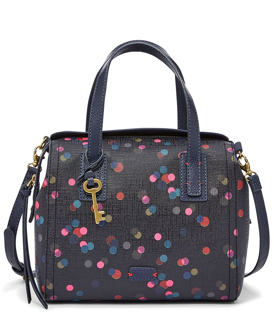 Fossil Emma Dotted Satchel