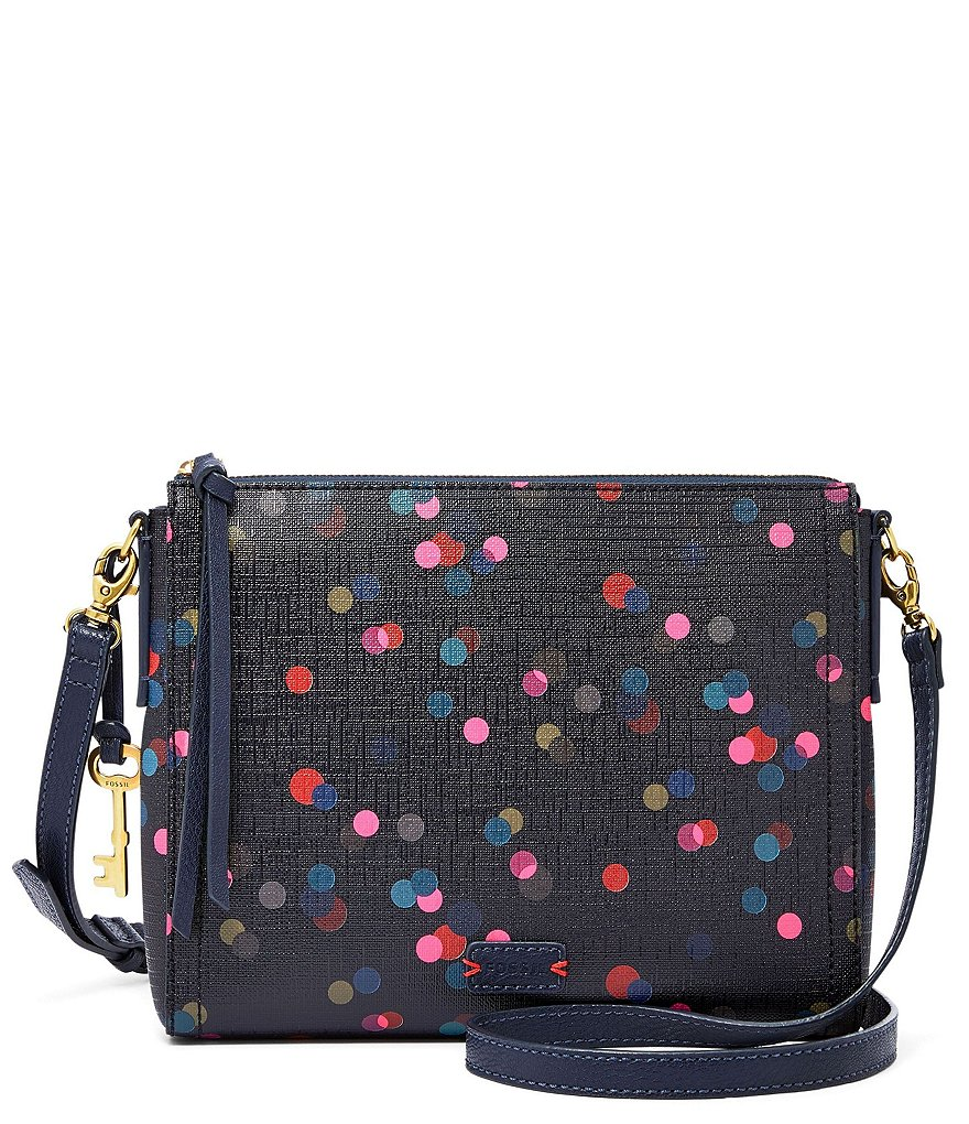 Fossil Emma Dotted East/West Cross-Body Bag