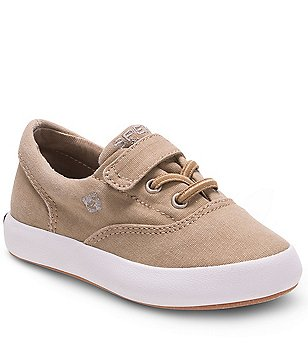 Sperry Boy´s Wahoo Jr. Canvas Fixed Lace Slip On Vulcanized Sneakers
