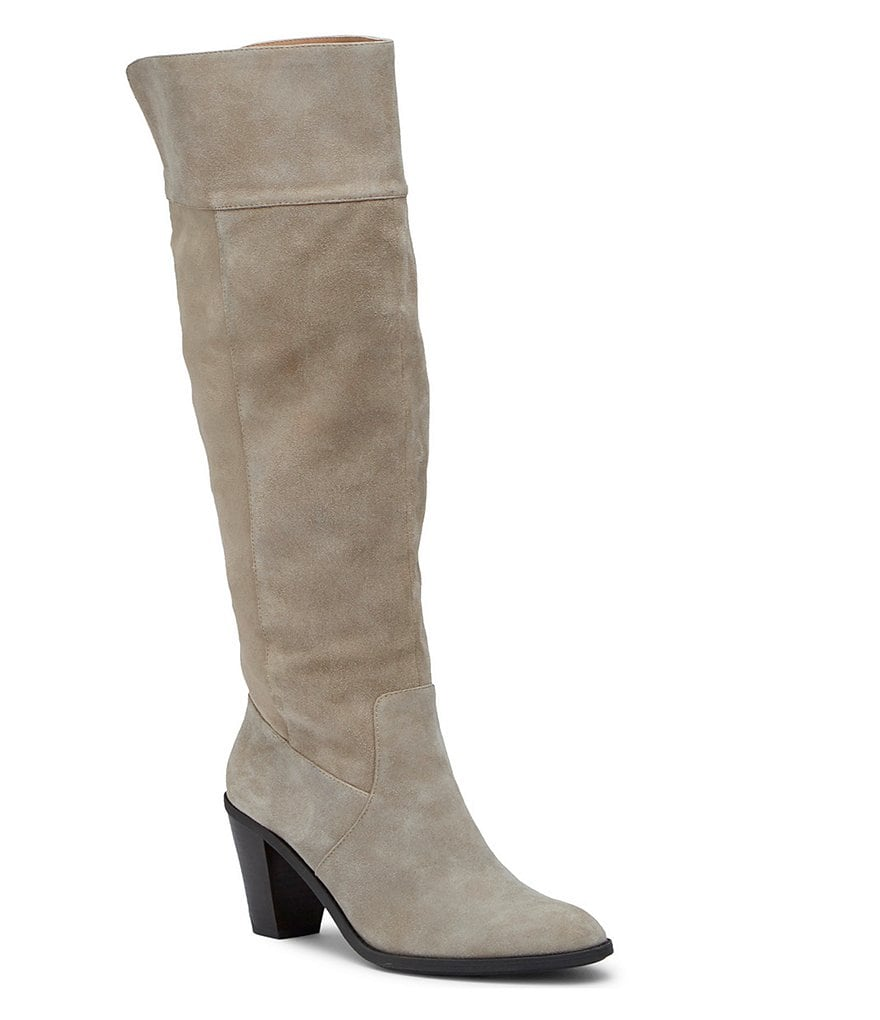 Kenneth Cole Reaction Very Clear Suede Tall Block Heel Boots