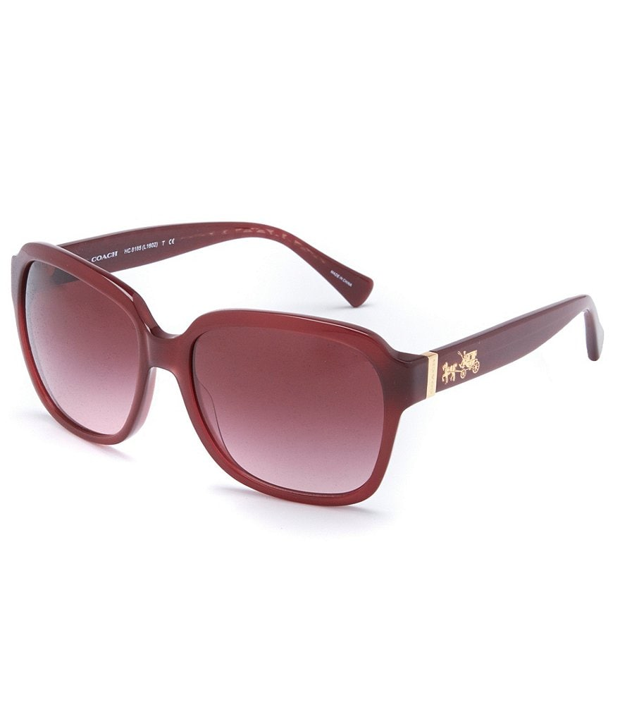 COACH HORSE & CARRIAGE GRADIENT GLAM SQUARE SUNGLASSES