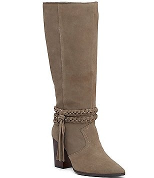 Kenneth Cole Reaction Pull Apart Ankle Wraparound with Tassel Block Heel Boots