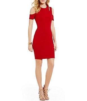 Mystic Cut-Out Cold-Shoulder Bodycon Dress