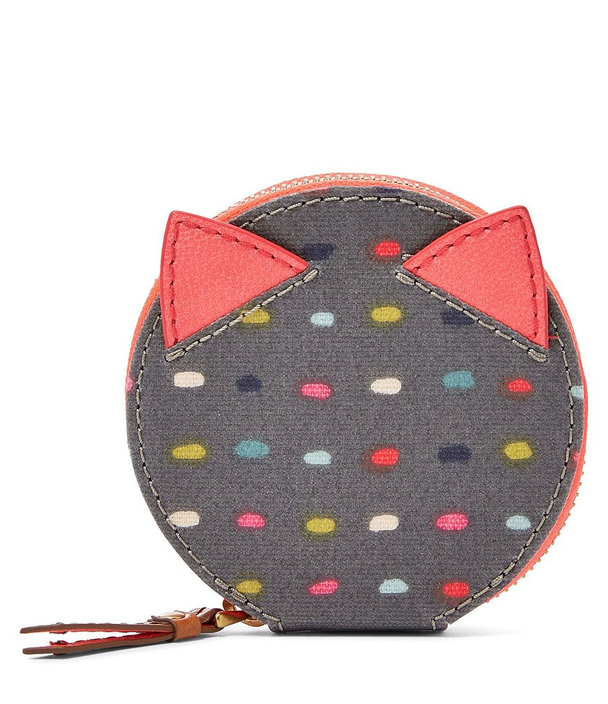 Fossil Keely Dotted Zip Coin Case
