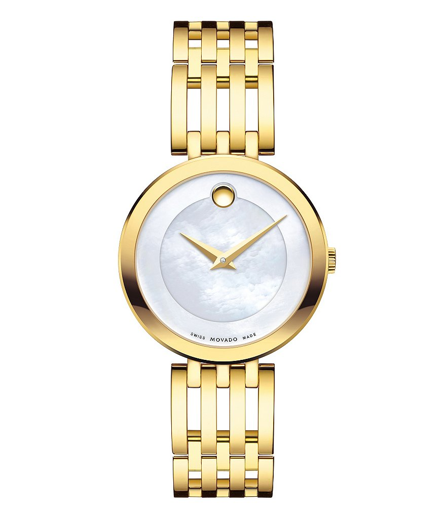 Movado Esperanza Mother-of-Pearl Analog Bracelet Watch