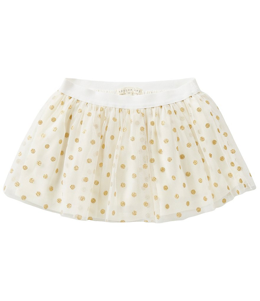 Copper Key Little Girls 2T-6 Glitter Dot Mesh Overlay Pull-On Skirt