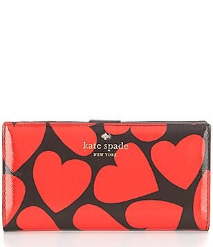 kate spade new york Be Mine Collection Stacy Heart-Print Continental Wallet