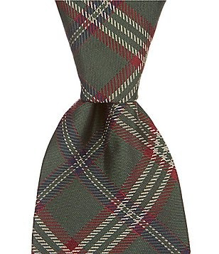 Brooks Brothers Tartan Plaid Traditional Silk Tie