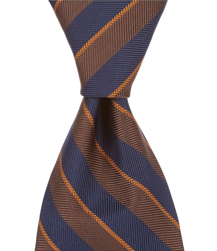 Brooks Brothers Stripe Traditional Silk Tie