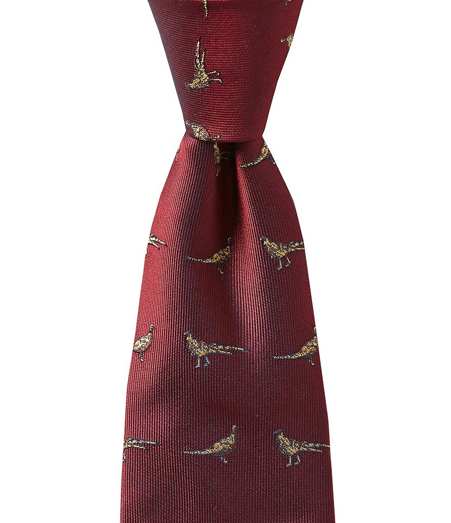 Brooks Brothers Boys Pheasant-Embroidered Tie