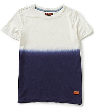 7 For All Mankind Big Boys 8-20 Dip-Dyed Color Block Short-Sleeve Linen-Blend Tee
