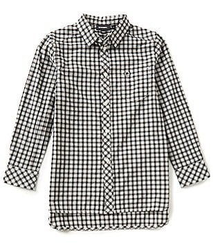 Diesel Big Boys 8-16 Cacey Plaid Long-Sleeve Woven Shirt