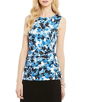 Preston & York Yvonne Printed Sleeveless Knit Tank