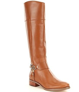MICHAEL Michael Kors Fulton Leather Harness Tall Riding Boots