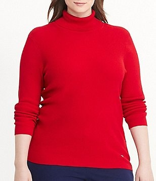 Lauren Ralph Lauren Plus Ribbed Turtleneck Sweater