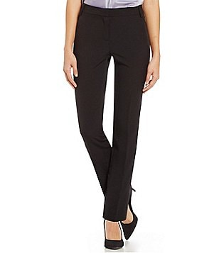 Kasper Seamed Straight Leg Ankle Pants