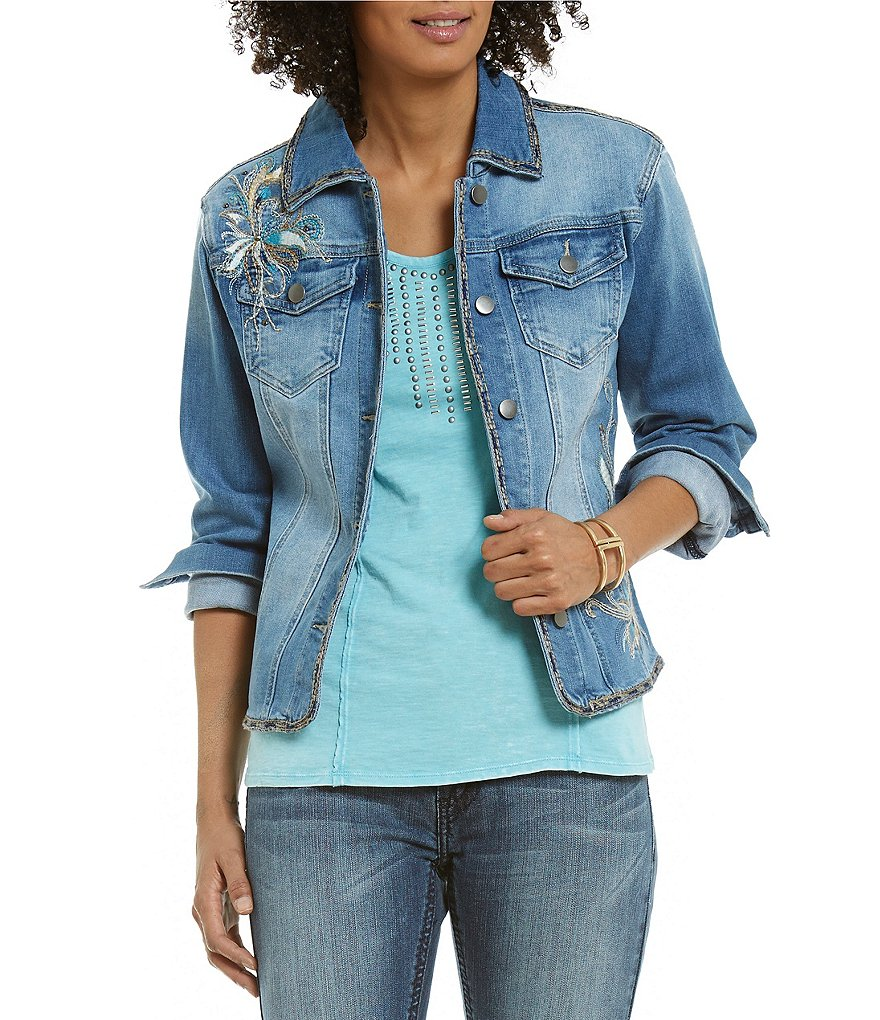 Reba Island Breeze Embroidered Denim Jacket