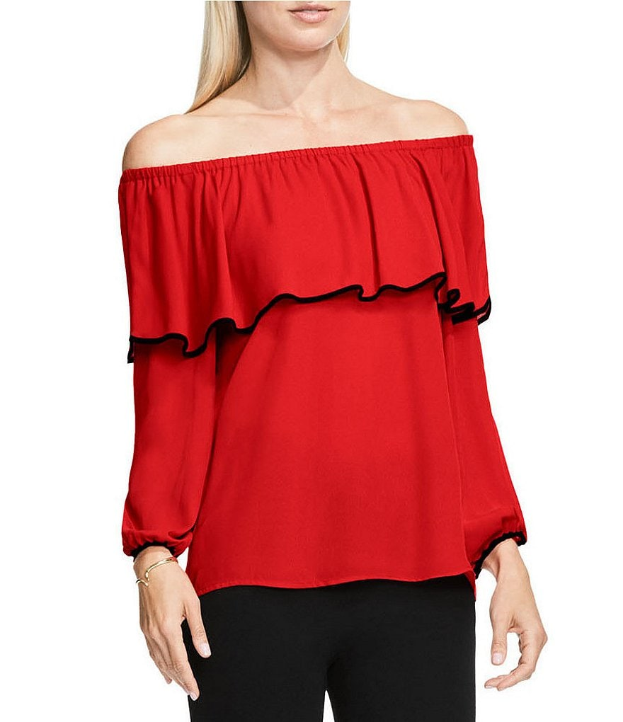 Vince Camuto Off-the-Shoulder Ruffle Blouse