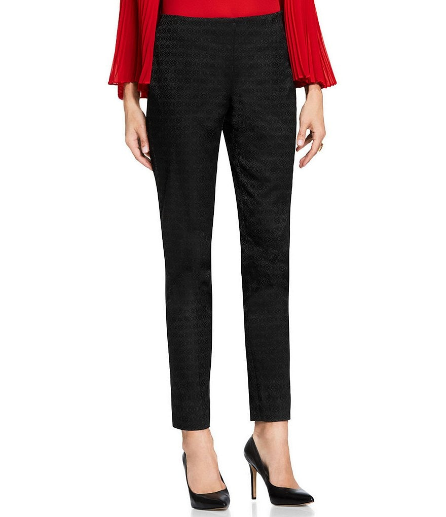 Vince Camuto Stretch Jacquard Side Zip Skinny Pant