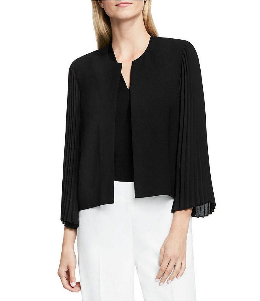 Vince Camuto Pleated Sleeve Kiss Front Jacket