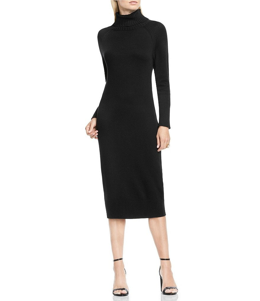 Vince Camuto Turtleneck Long Sleeve Sweater Dress