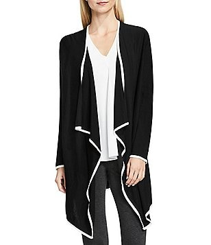 Vince Camuto Drape Open Front Cardigan