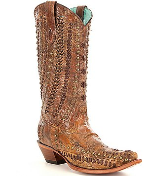 Corral Boots Studded and Woven Boots