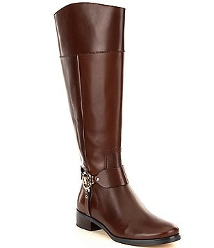 MICHAEL Michael Kors Fulton Harness Wide Calf Leather Riding Boots