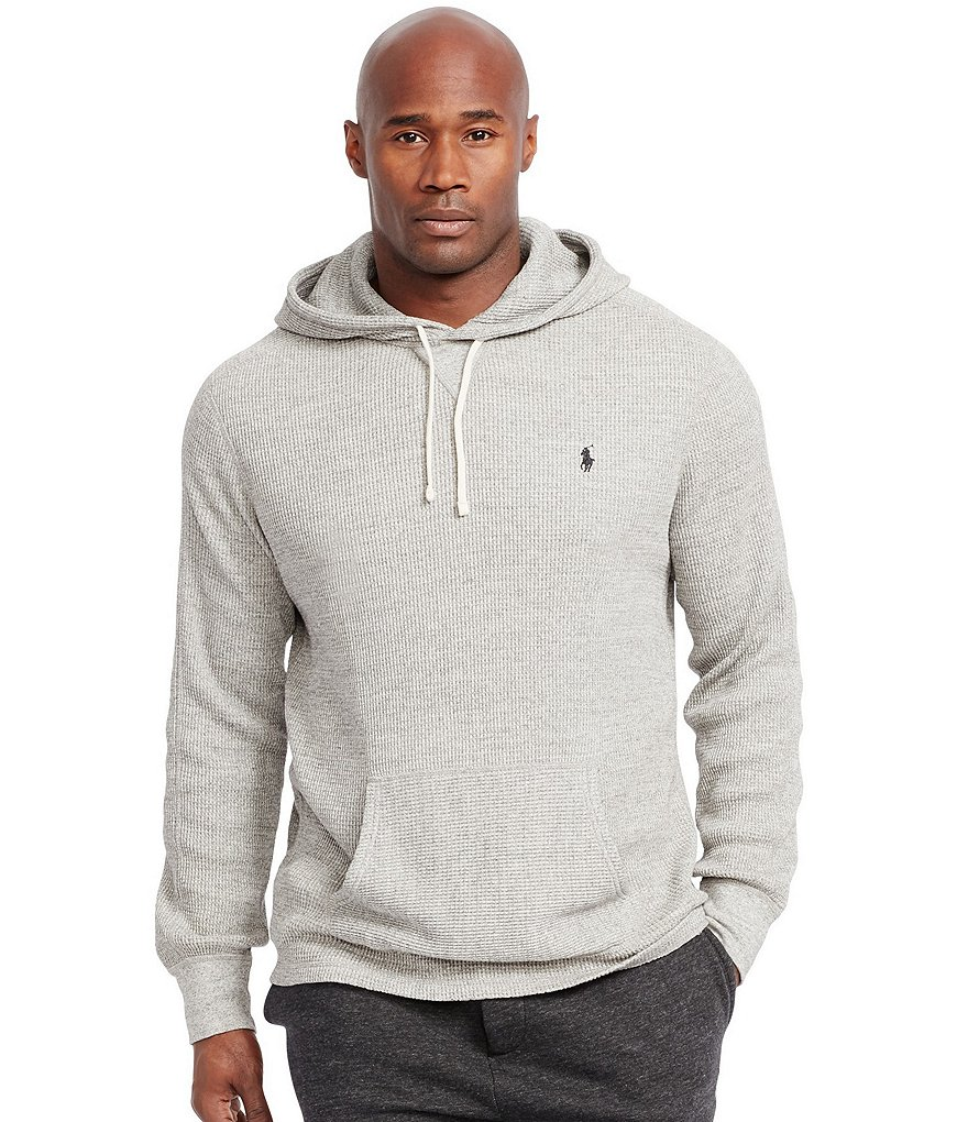 Polo Ralph Lauren Big & Tall Waffle-Knit Cotton Hoodie