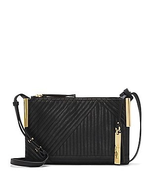 Vince Camuto Tina Geometric-Embossed Cross-Body Bag