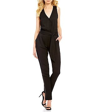 BB Dakota Corinth Crepe V-Neck Sleeveless Jumpsuit